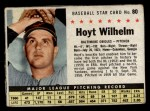 1961 Post #80 BOX Hoyt Wilhelm   Front Thumbnail
