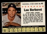 1961 Post Cereal #43 BOX Lou Berberet   Front Thumbnail