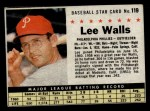 1961 Post Cereal #119 BOX Lee Walls   Front Thumbnail