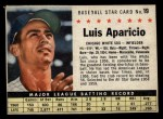 1961 Post Cereal #19 BOX Luis Aparicio   Front Thumbnail