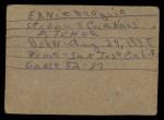 1961 Post #179 BOX Ernie Broglio   Back Thumbnail