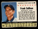1961 Post Cereal #55 BOX Frank Sullivan   Front Thumbnail