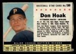 1961 Post Cereal #130 BOX Don Hoak   Front Thumbnail