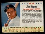 1963 Post #26 COR Joe Koppe   Front Thumbnail