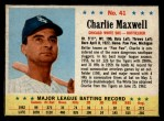 1963 Post Cereal #41  Charlie Maxwell  Front Thumbnail