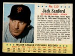 1963 Post #110  Jack Sanford  Front Thumbnail