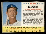 1963 Post #113  Lee Walls  Front Thumbnail