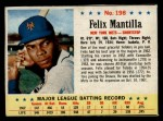 1963 Post Cereal #198  Felix Mantilla  Front Thumbnail