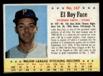 1963 Post Cereal #147  Roy Face  Front Thumbnail