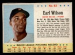 1963 Post Cereal #83  Earl Wilson  Front Thumbnail