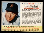1963 Post Cereal #110  Jack Sanford  Front Thumbnail