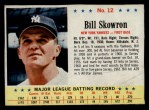 1963 Post #12  Bill Skowron  Front Thumbnail