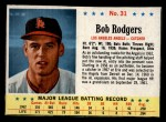 1963 Post Cereal #31  Bob Rodgers  Front Thumbnail
