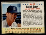1963 Post Cereal #20  Ralph Terry  Front Thumbnail