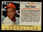 1963 Post Cereal #178  Tony Taylor  Front Thumbnail