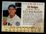 1963 Post #193  Gil Hodges  Front Thumbnail