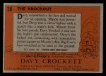 1956 Topps Davy Crockett #38 ORG  The Knockout  Back Thumbnail