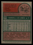 1975 Topps #248  Randy Jones  Back Thumbnail