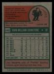 1975 Topps #242  Jay Johnstone  Back Thumbnail