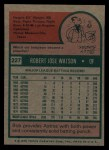 1975 Topps #227  Bob Watson  Back Thumbnail