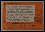 1956 Topps Davy Crockett #31 ORG  Fists Flying  Back Thumbnail