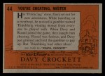 1956 Topps Davy Crockett #44 ORG  You're Cheating Back Thumbnail