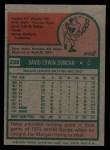 1975 Topps #238  Dave Duncan  Back Thumbnail