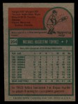 1975 Topps #254  Mike Torrez  Back Thumbnail