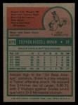 1975 Topps #273  Steve Braun  Back Thumbnail