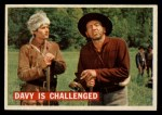 1956 Topps Davy Crockett #34 ORG  Davy Is Challenged  Front Thumbnail