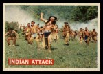 1956 Topps Davy Crockett #14 ORG  Indian Attack  Front Thumbnail