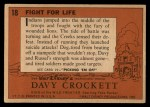 1956 Topps Davy Crockett #18 ORG  Fight For Life  Back Thumbnail