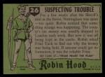 1957 Topps Robin Hood #26   Suspecting Trouble Back Thumbnail