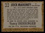 1958 Topps TV Westerns #33   Jock Mahoney  Back Thumbnail