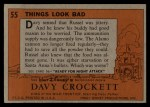 1956 Topps Davy Crockett #55 ORG  Things Look Bad  Back Thumbnail