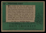 1956 Topps Davy Crockett #16 GRN  Fighting Fury  Back Thumbnail
