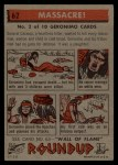 1956 Topps Round Up #62   -  Geronimo  Massacre Back Thumbnail