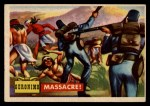 1956 Topps Round Up #62   -  Geronimo  Massacre Front Thumbnail