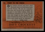 1956 Topps Davy Crockett #78 ORG  Fight to the Finish  Back Thumbnail