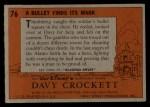 1956 Topps Davy Crockett #76 ORG  Bullet Finds Its Mark  Back Thumbnail