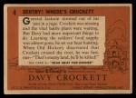 1956 Topps Davy Crockett #4 ORG  Sentry! Where's Crockett    Back Thumbnail