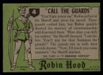 1957 Topps Robin Hood #4   Call The Guards Back Thumbnail