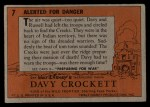 1956 Topps Davy Crockett #7 ORG  Alerted For Danger  Back Thumbnail