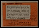 1956 Topps Davy Crockett #40 ORG  Tragedy Strikes  Back Thumbnail
