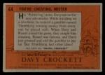1956 Topps Davy Crockett #44 ORG  You're Cheating Back Thumbnail