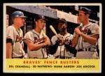 1958 Topps #351   -  Hank Aaron / Eddie Mathews / Joe Adcock / Del Crandall Braves Fence Busters Front Thumbnail