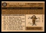 1960 Topps #35  Whitey Ford  Back Thumbnail