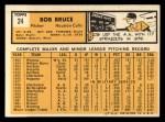 1963 Topps #24  Bob Bruce  Back Thumbnail