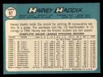 1965 Topps #67  Harvey Haddix  Back Thumbnail