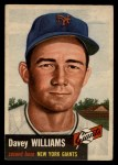 1953 Topps #120  Davey Williams  Front Thumbnail